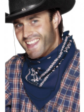Wild West Bandana In Blue
